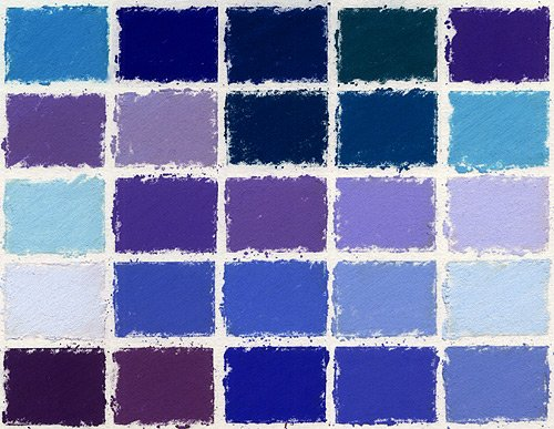 Girault Soft Pastels- Set of 25 Blues by Girault