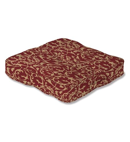 American Made Patio Furniture (Plow & Hearth 35685-78 American-Made Outdoor Floor Cushion with Carrying Handle, Brick Scroll)