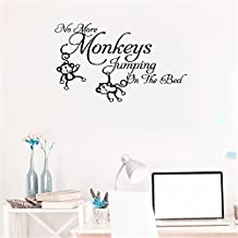 bileso wall sticker decal mural window No More Monkeys Jumpin' on the Bed!
