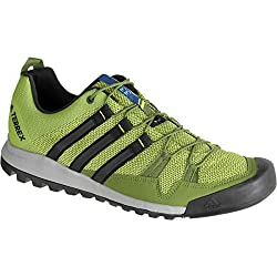 Adidas Sport Performance Men's Terrex Solo Hiking Sneakers, Green Textile, Rubber, 8.5 M