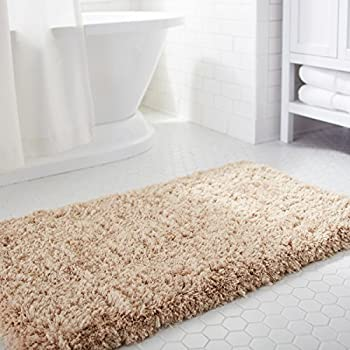 Norcho Non Slip Absorption Shower Rug Soft Microfiber Antibacterial Rubber  Luxury Bath Mat 2.6x3.