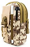 Bastex Universal Multipurpose Tactical Cover Smartphone Tan Camo Holster EDC Security Pack Carry Case Pouch Belt Waist Bag Gadget Money Pocket for iPhone 6s Samsung Galaxy S7 Note5 LG G5 iPhone 7
