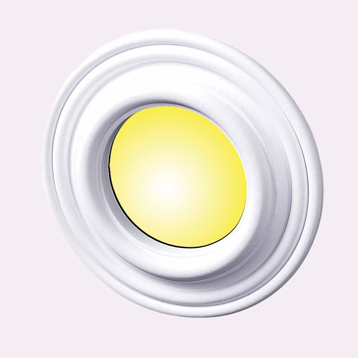Recessed Lighting Ceiling Trim For Spot Lights In Bedroom Kitchen Etc White Durable Urethane Foam 5 Inch Inner Diameter X 9 Inch Outer Diameter Classy Round Medallion