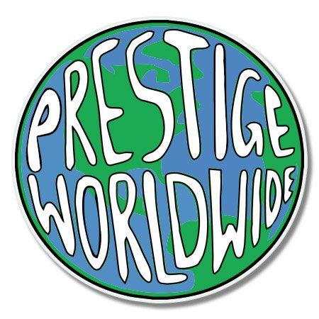 - Prestige Worldwide Vinyl Sticker - Car Phone Helmet - SELECT SIZE
