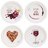 wine themed plates - Wine Party Assorted Appetizer Plates