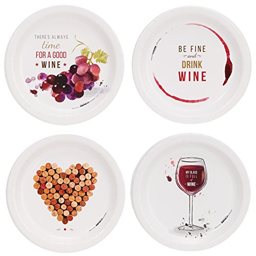 (Wine Party Assorted Appetizer Plates)