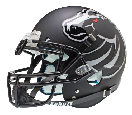 NCAA Boise State Broncos Authentic XP Football Helmet, Matte/Black by Schutt