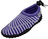 The Wave Womens Water Shoes Aqua Socks Pool Beach,Yoga,Dance and Exercise 1177 Purple 9
