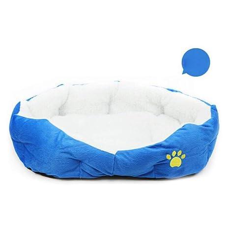 Doitsa 1x Cama para Mascotas para Perro Gato Lindo Suave Cama de Perro de Forma Redonda