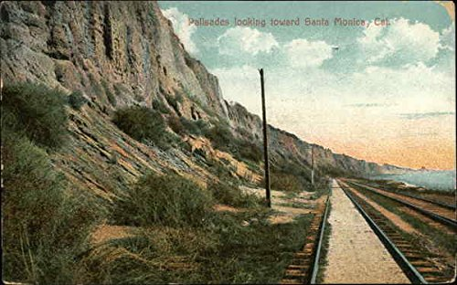 Palisades Looking toward Santa Monica, Cal Railroad Scenic Original Vintage (Towards Santa)