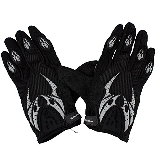 Ezyoutdoor Black Large Size Full-finger Glove for Cycling Bike Outdoor Sports Motorcycle Bicycle Riding Skiing Skating with Bicycle Flashlight Holder Clip Bracket