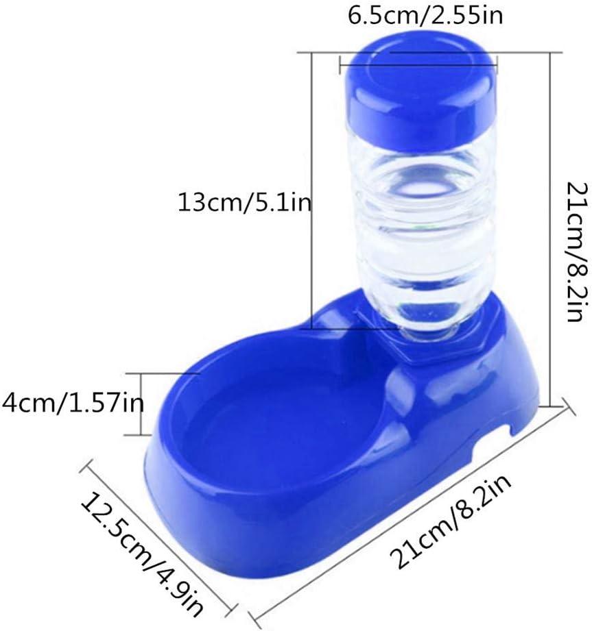 MEISISLEY Distributore Acqua Gatti Dispenser Acqua Gatti Bottiglia dAcqua per Animali Domestici Ciotola per Acqua per Cani Blue