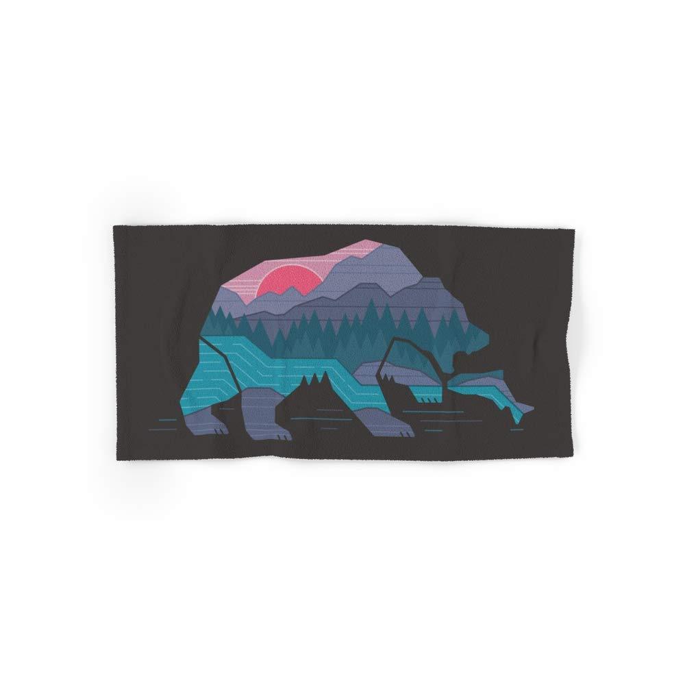 Society6 Bath Towel, 30'' x 15'', Bear Country by rickcrane