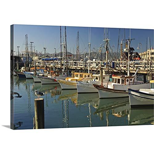 Terminal Fishermens - GREATBIGCANVAS Gallery-Wrapped Canvas Entitled Fishermen's Terminal; San Francisco, California, USA by Stuart Westmorland 30