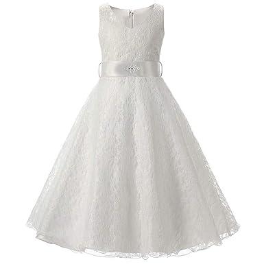 best service 06acb 1f7be Frashing-Mädchen Kleider Frashing Weißes Kleid aus Spitze ...