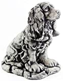 Dog Statue Cocker Spaniel Garden Statue Puppy Outdoor Cement Dog Figure Doggy Sculpture Review