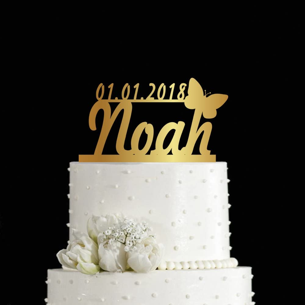 Any Design Or Color! Personalized Butterfly Baby Shower Baby Girl Cake Topper
