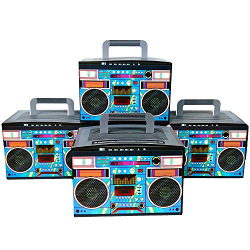 - Party Drop Box Retro Boombox Party Favor Boxes 12ct