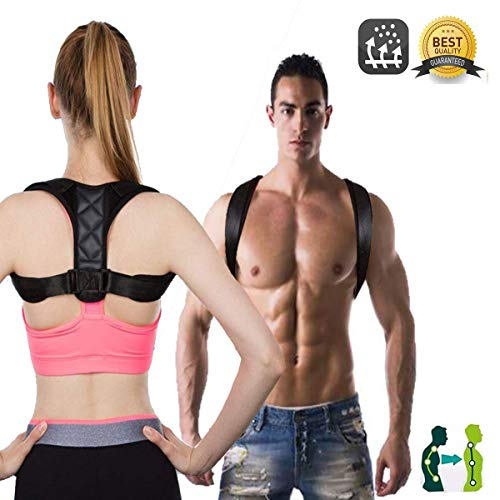 Posture Corrector Back Brace for Men and Women, Adjustable Clavicle Brace Support Brace Perfect for Shoulder and Neck Pain, Upper Back Correction.(Less Than 198Ibs:L 35-45 inches)