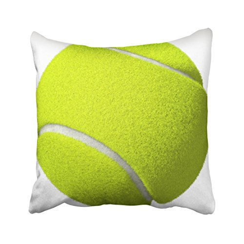 Capsceoll sports tennis ball round pillow Decorative Throw Pillow Case 16X16Inch,Home Decoration Pillowcase Zippered Pillow Covers Cushion Cover with Words for Book Lover Worm Sofa (Indoor Memorabilia Case)