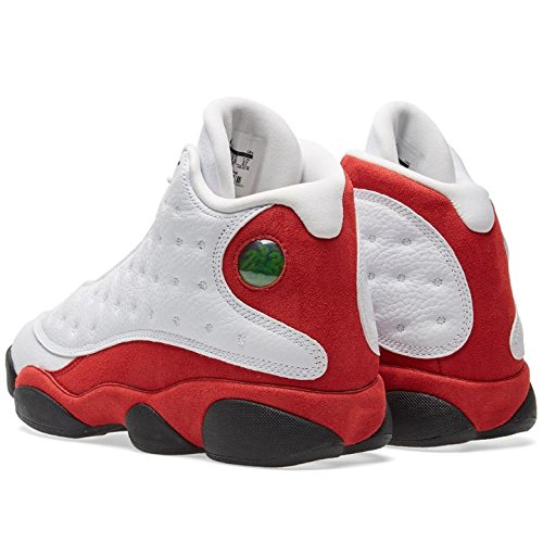 Mens Jordan Luft 13 Retro Playoffs Basketskor - 414.571 101 Vit, Svart-lag Röd