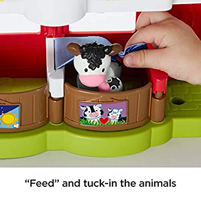 Fisher-Price Little People Caring For Animals Farm Set: Toys & Games