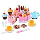 54 Pieces Pretend Play Tea Party Set Birthday