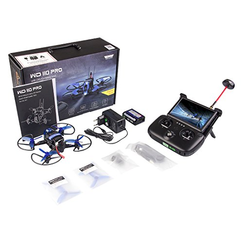 Quadcopter Drone with FPV HD Camera /Devo f8S(s) Remote Control & FPV Monitor /F3 Fight Control /Live Video Transmitter(batteryX2)WD110 Pro by Weyland
