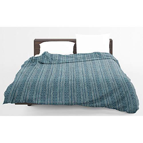 - HNU 1 Piece Twin Hypoallergenic Modern Blue Teal Comforter, Lightweight Bohemian & Eclectic Geo Bedding, Contemporary Geometric Pattern Design Boho Bedding, Elegant Ultra Soft Cozy Fluffy Comforter