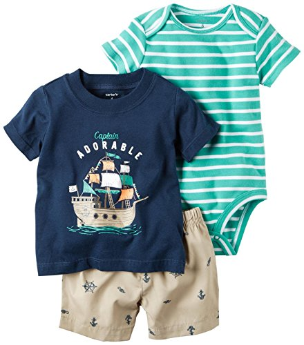 Carter's Carter's Baby Boys Diaper Cover Sets 121h176, Navy, 24M (Boys Diaper Shirt)