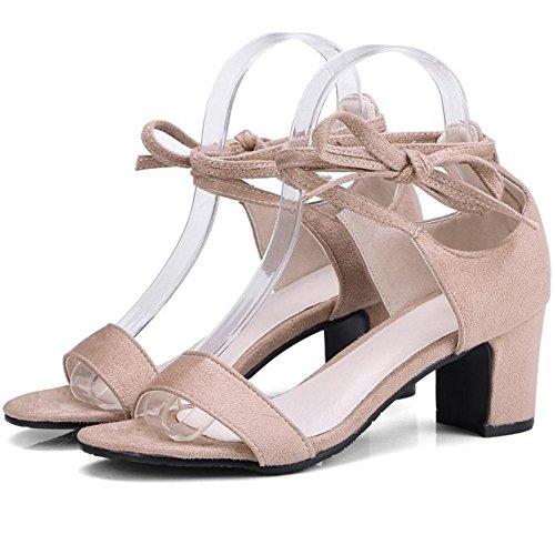 Apricot Fashion Shoes TAOFFEN 2 Heel Women Block Sandal FqYw8SR