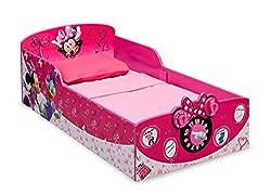 Delta Children Interactive Wood Toddler Bed, Disney Minnie...