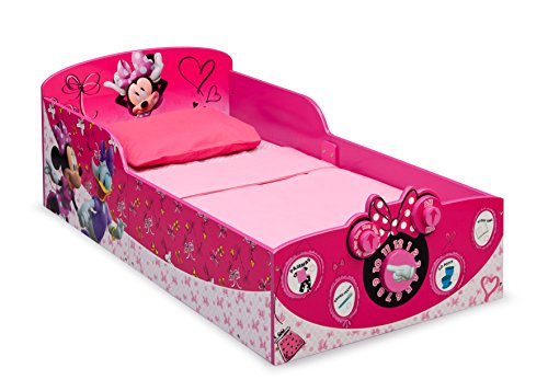 Lowest Prices! Delta Children Interactive Wood Toddler Bed, Disney Minnie Mouse