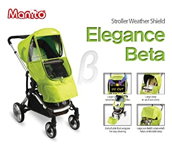 Manito Elegance Beta Cover // Cover for Baby Stroller and Pushchair Wind Weather Shield for outdoor strolling Rain Cover Purple Eye Protective Wide Windows