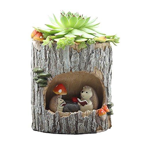 Xinhuaya Planter Pot,Little Child Rumor Hedgehog Pattern Watering Pot Home Decoration Pots Tiny Flower Plant Containers For Succulent, Cactus ,Cactus Aloe,Vera Large (Adorable Names Hedgehog)