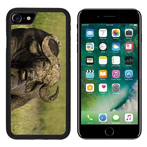 Liili Premium Apple iPhone 8 Aluminum Backplate Bumper Snap Case African Cape Buffalo Photo 20215705 ()