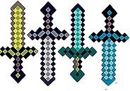 "Vasrou Minecraft Pixel Foam Sword,18"" Height,High-Hardness Foam Material,Not Easy to Break,Gift for Game Fans"