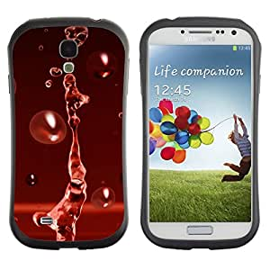 Paccase / Suave TPU GEL Caso Carcasa de Protección Funda para - Red Water Drop Red Splash - Samsung Galaxy S4 I9500