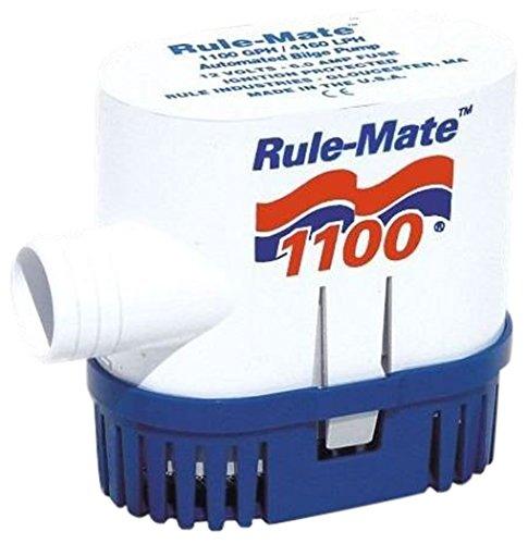 - Rule RM1100 Marine Rule-Mate 1100 Marine Bilge Pump (1100-GPH, 12-Volt)