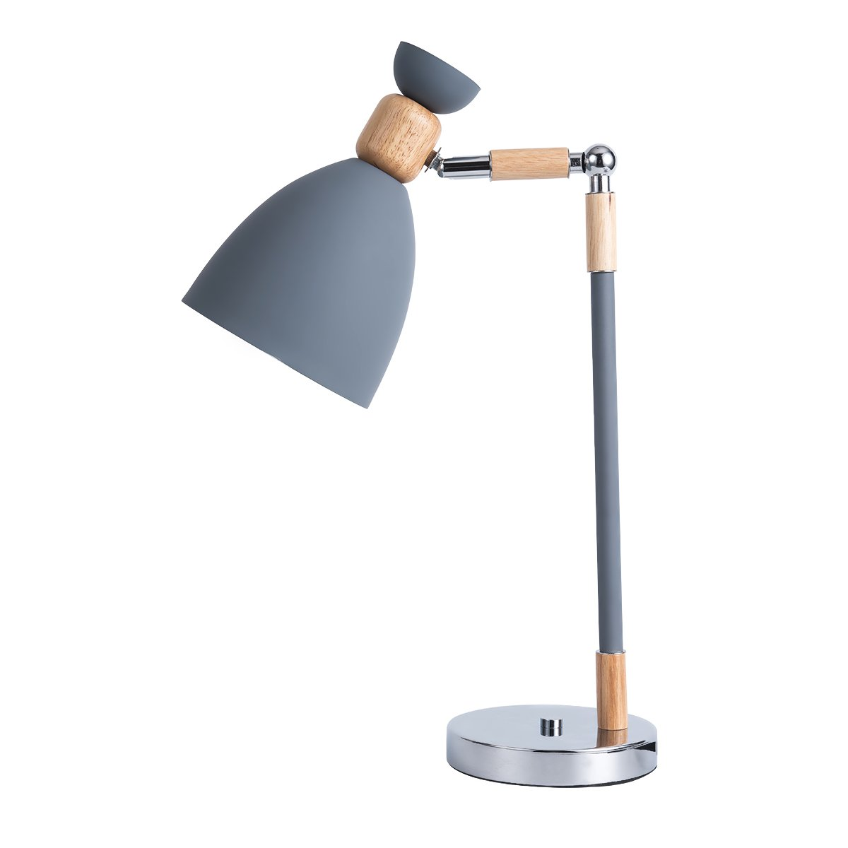 Leden LED Bedside Lamps Reading Lamp Touch Control Adjustable Metal Shade with Table lamp Gray