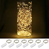 Blinngo Starry String Lights, 6-Pack 30 Micro Starry LED Silvery Copper Wire ...