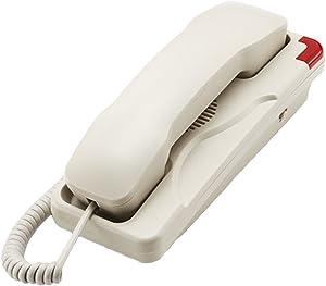 KerLiTar K-036 Trimline Corded Phone Wall Mountable Landline Telephone Waterproof and Moisture-Proof for Hotel Home Bathroom(Beige)