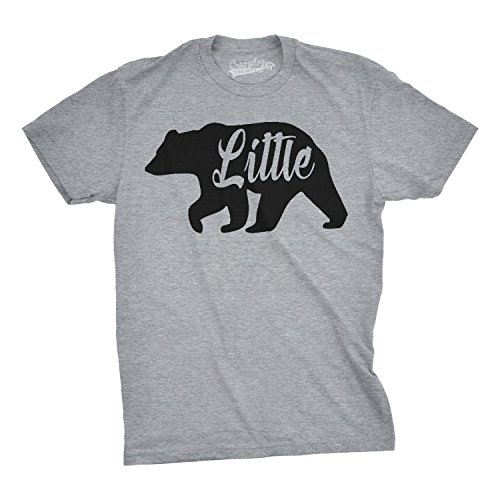 Crazy Dog T-Shirts Toddler Little Bear Cute Gift for Children Adorable Funny Novelty Family T Shirt (Grey) -2T Funny Bear