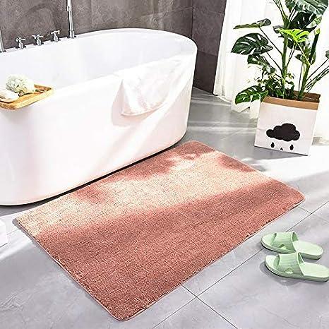 Non Slip Bath Mat Soft Shaggy Microfiber Absorbent Water Rug for Toilet,Bathroom