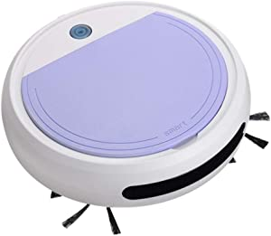 BINGFEI Rechargeable Smart Robot 4 in 1 Vacuum Cleaner Auto Smart Sweeping Robot UV Sterilizer Strong Suction Sweeper Vacuum Cleaners,White Purple