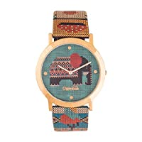 Chumbak Analogue Green Dial Women's Watch