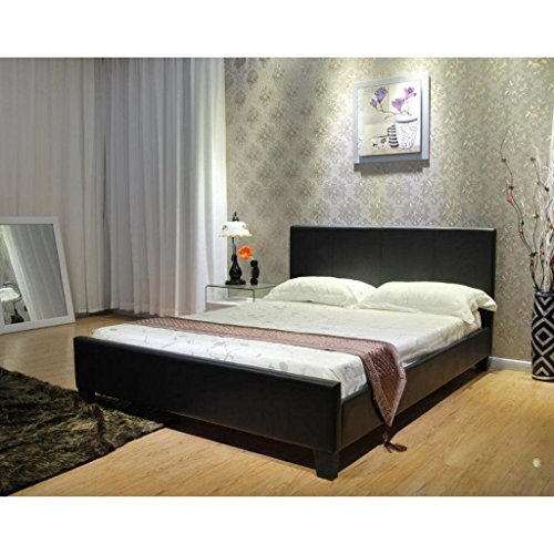 Greatime Platform Bed, Queen, Black by Greatime