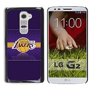 Design for Girls Plastic Cover Case FOR LG G2 LA Laker Basketball OBBA