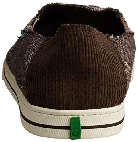 Sanuk Heren Baseline Geleerde Slip-on Loafer Bruin