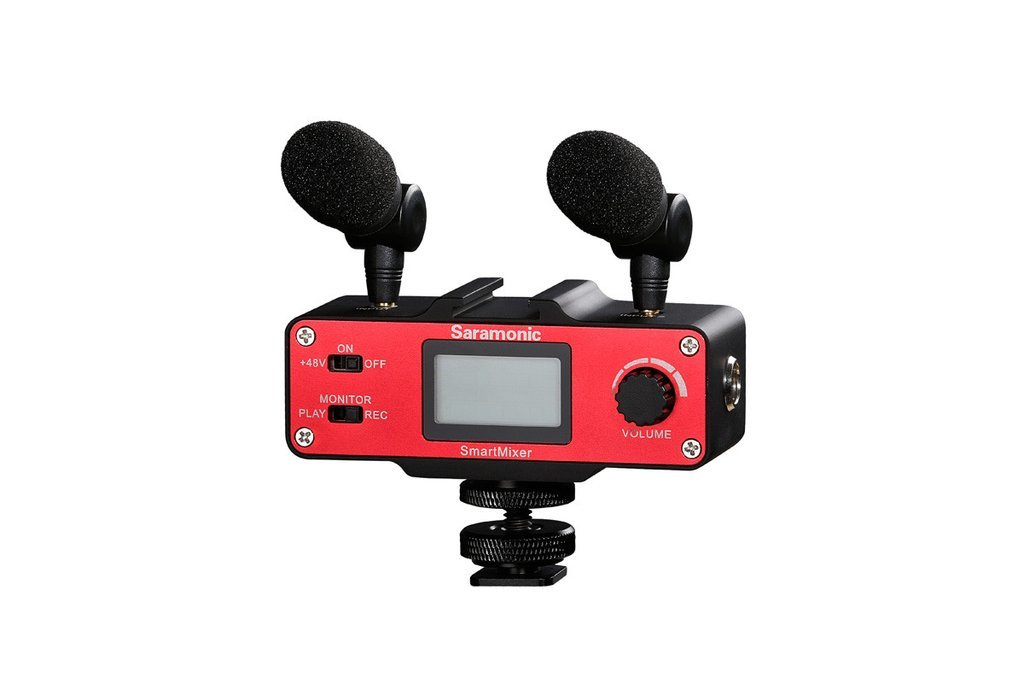 Saramonic SmartMixer Professional Recording Stereo Microphone Rig for iPhone and Android Smartphones by Saramonic